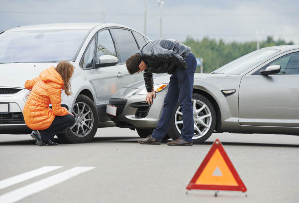car accident scene